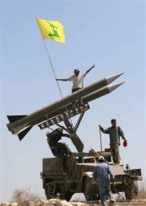 A Hizbullah rocket launcher