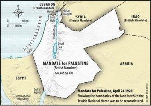 British Mandate map
