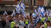 Israel Rally outside Israeli Embassy, London